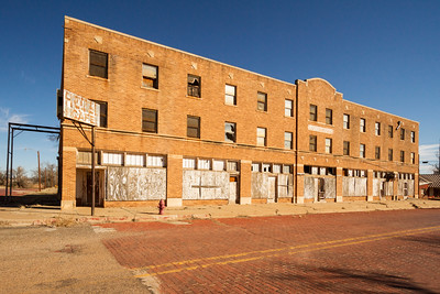 Abandoned Cottle Hotel in Paducah, Texas