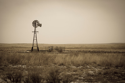 Windmill in rural Colorado