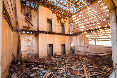 Abandoned school in Whiteflat, Texas