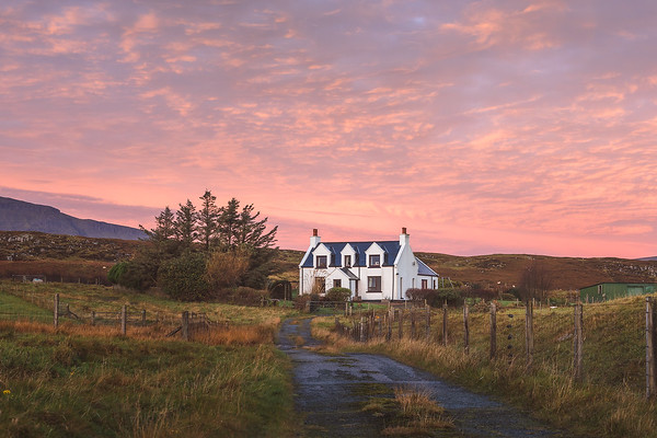Cottage Sky. Staffin, Isle of Skye, Scotland