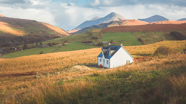 Cottage Countryside. Isle of Skye, Scotland