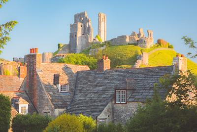 Corfe Castle. Dorset, England