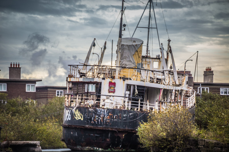 A Derelict Ship In a Bay Off the Grand Canal (©simon@myeclecticimages.com)
