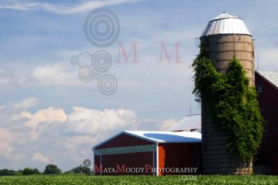 Illinois red farm house
