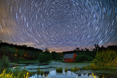 Starry Night at the Sinking Barn