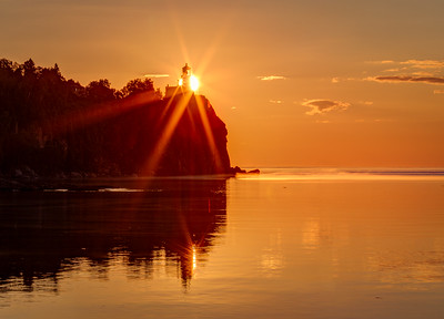 Lighting the House -- Sunrise at Split Rock