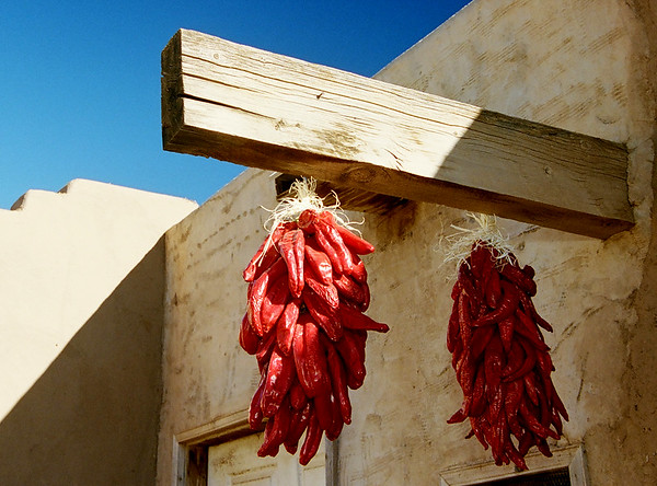 Hanging Peppers.
