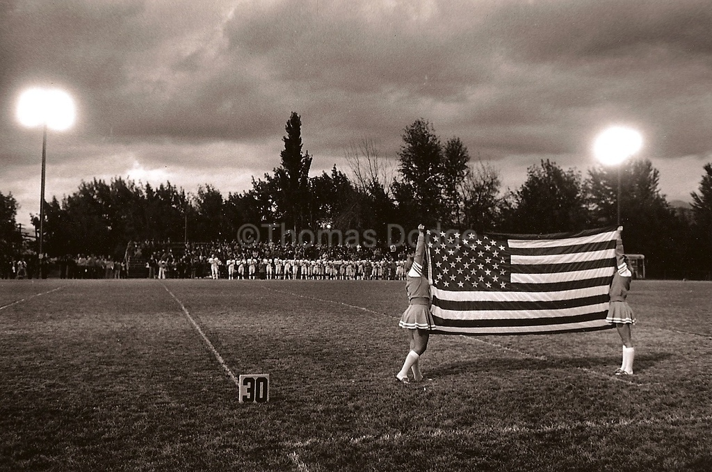 Friday Night Football, Missoula, MT, 1980.