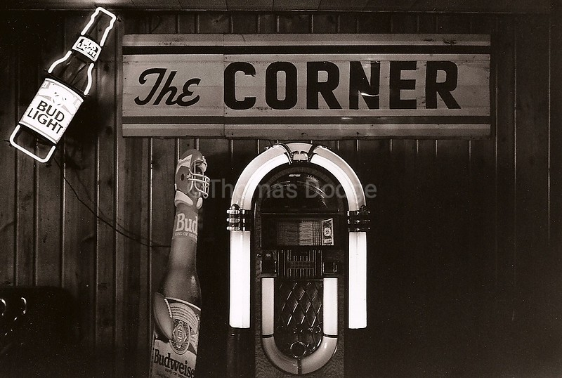 Corner Bar, Genessee, ID, ca. 1992. Click on photo for clear, enlarged view.