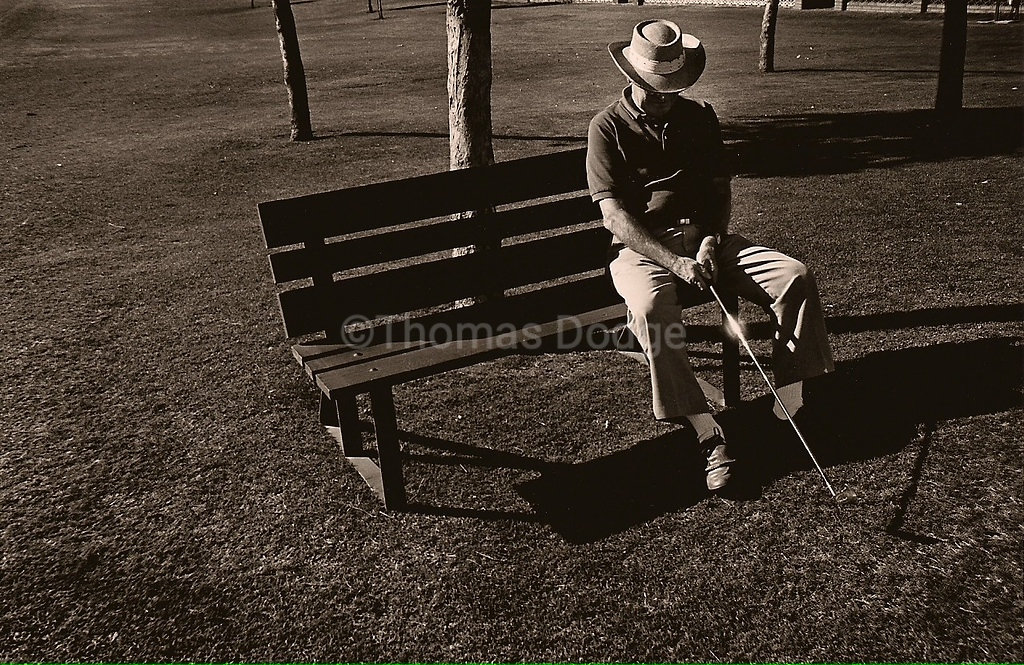 Dad Golfing, Sunland Village East, Mesa, AZ, 1998