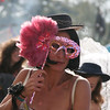 Lady with mask at Green Gathering