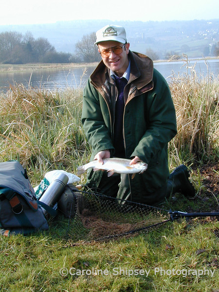 "Competition trout fishing ""Blagdon lake"""