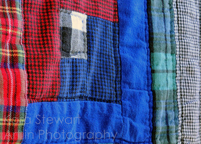 Plaid Quilt Detail Photo by Kara Stewart, Art in Photography