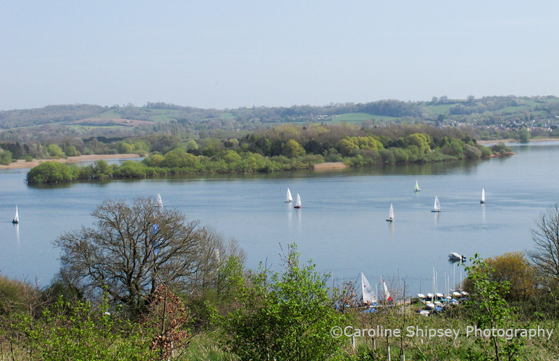 The Community Farm Open Day April 9th 2011- view from the Tipis across Chew Lake