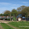 The Community Farm Open Day April 9th 2011 - arrival at the Tipis!
