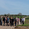 The Community Farm Open Day April 9th 2011 -I'm late arriving and there are already groups touring the farm.