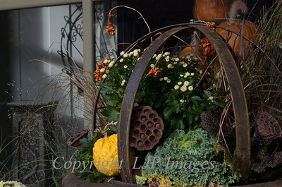 Fall display along Main Street in Weston, Missouri