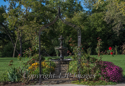 Fountain and garden of a private residence in Weston Missouri