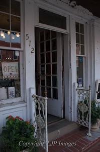 Doorway to a boutique in Weston, Missouri