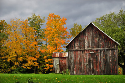 An Abandoned House and Barn in Galway Lake, Saratoga County
