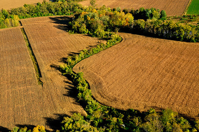 Aerial View of A Wheat Farm, Schoharie County