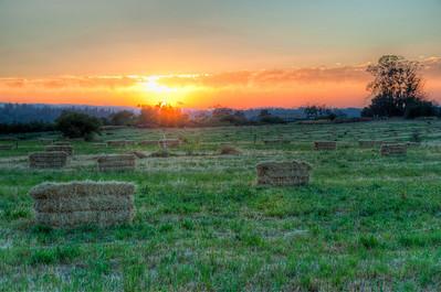 hay-bales-sunset