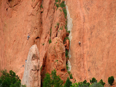 Parallel climbing in the Garden of the Gods