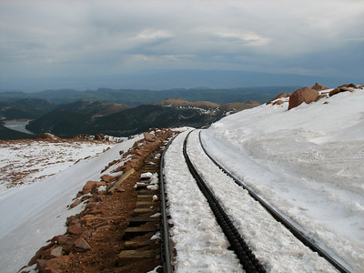 What is  around the corner? Pikes Peak Cog railway  Colorado elevation 14110 ft. or 4300 m.