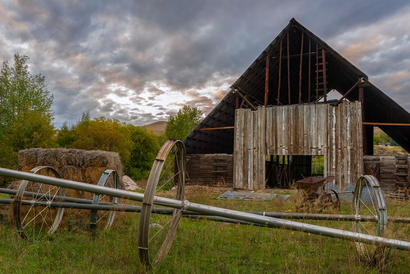 Twisp River Barn at Sunset