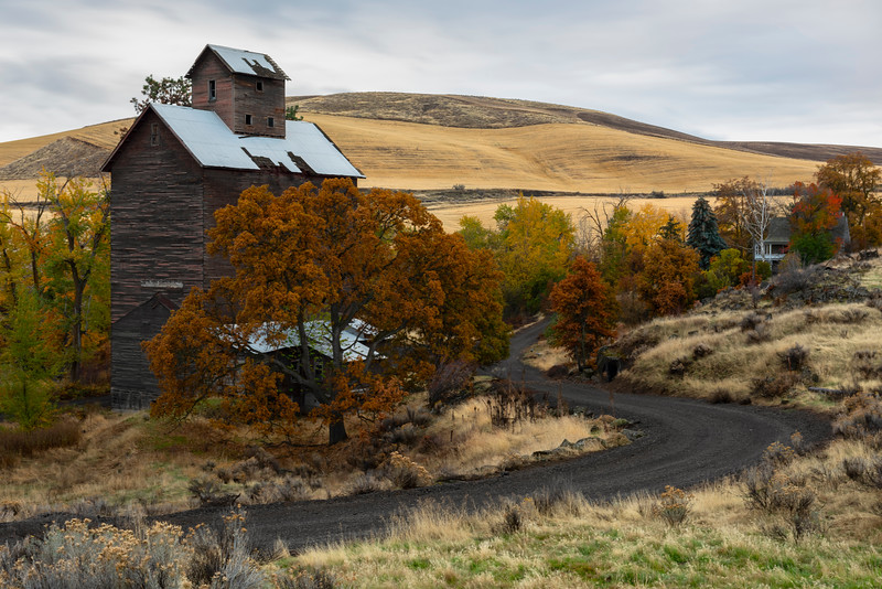 Granary and Rolling Hills