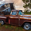 Rusty Truck and Old Barn