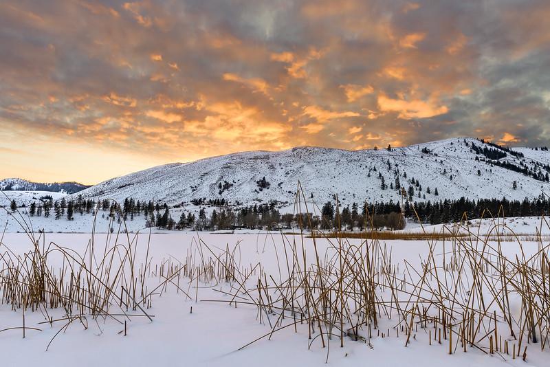 Big Twin Winter Sunset
