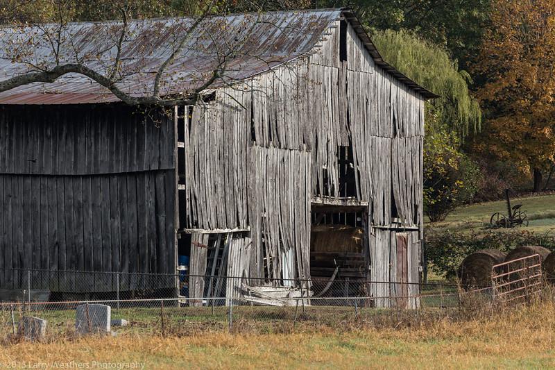 Barn, Family Plot & Mower