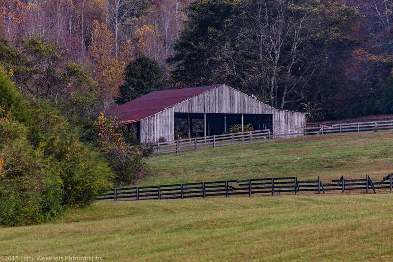 Horse Barn & Fall Foliage