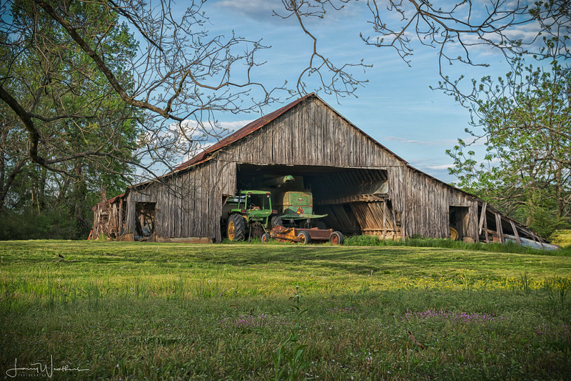 Old Milk Barn Finds New Life As Tractor Shed
