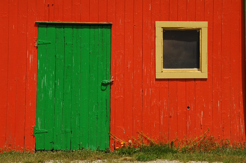 Colorful Barn Door, Michigan  Copyright - W. Keith Baum | PhotoCanal.com