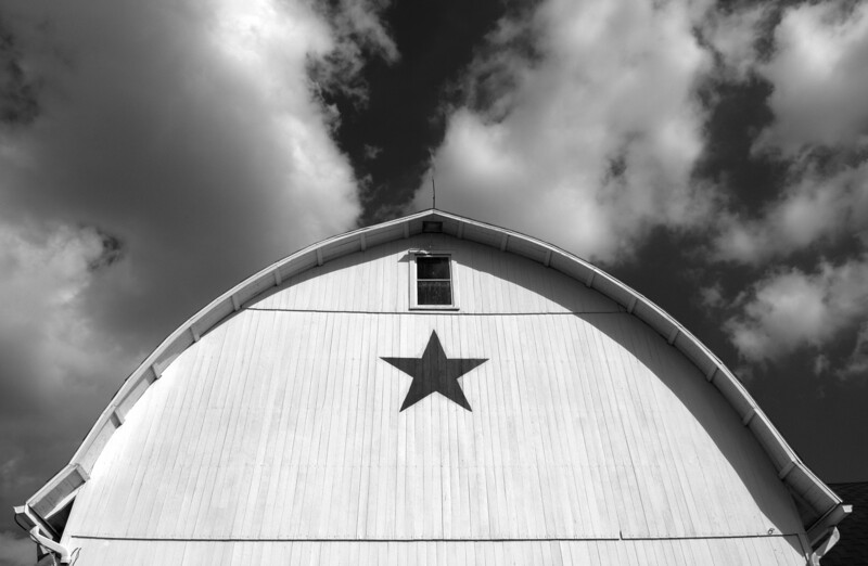 Barn with star painting, Lancaster County, PA  Copyright - W. Keith Baum   PhotoCanal.com