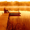 Quiet sunrise on a lake in central Michigan.  Copyright - W. Keith Baum | PhotoCanal.com