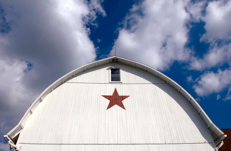 Barn with star painting, Lancaster County, PA  Copyright - W. Keith Baum | PhotoCanal.com