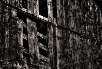 old barn hay door