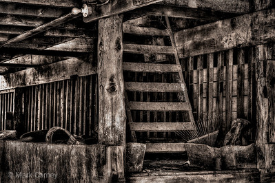 old barn ladder