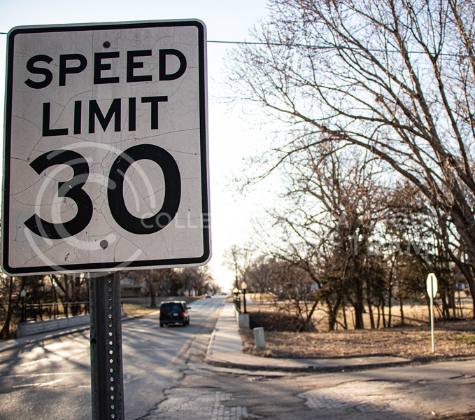 Speed limit sign on Court St. (Madeline Emerson | Collegian Media Group)