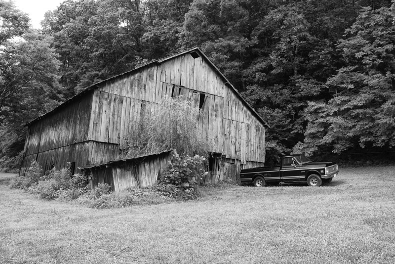 Country Barn - B/W