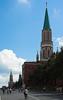 Entrada a la plaza roja y torre Nikolskaya