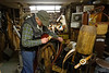 Russ Bigelow, harness maker. April 2013