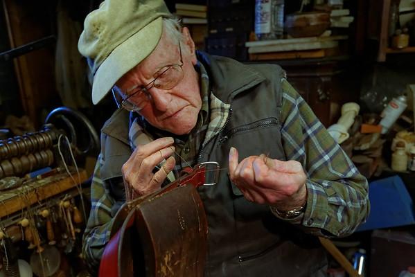 Russ Bigelow, harness maker. April 2013