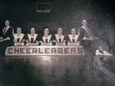 There were several photos on display from high school and some of familes.  Cheerleaders:.  Nadine Adkins, Marianna Adkins, Diane Trimble, Sally Johnson,  Donna Johnson, Carol Carte, and Mary Alice Nolan.