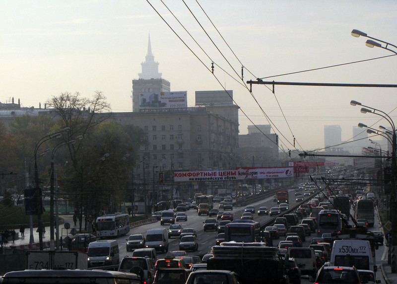 Morning Moscow  Traffic