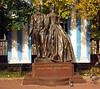 Alexander  & Natalya Pushkin Statue on Arbat Street Moscow