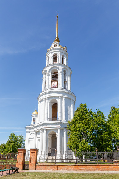 The bell tower of the Resurrection Cathedral